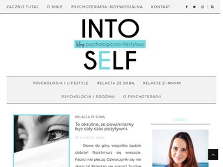 Intoself.pl blog psychoterapeuty