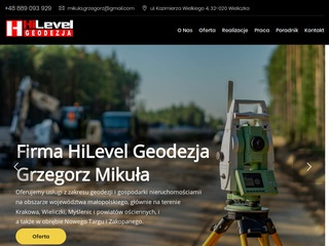 Hilevelgeodezja.pl podział działki Wieliczka