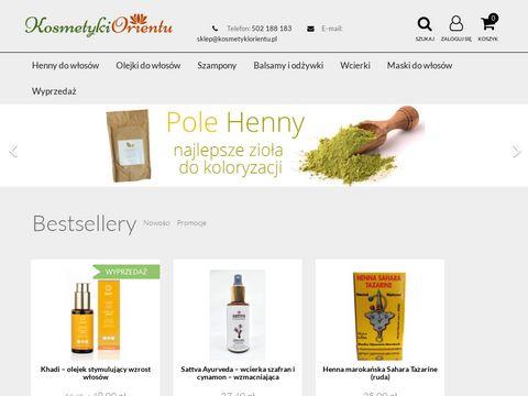Kosmetykiorientu.pl naturalna henna khadi