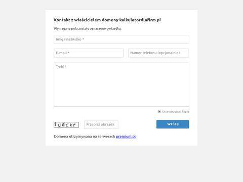 Kalkulatordlafirm.pl