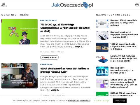 Jakoszczedzic.pl promocje bankowe