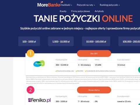 Morebanker.pl chwilówki online