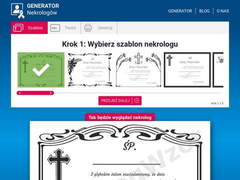 Nekrologwzor.pl