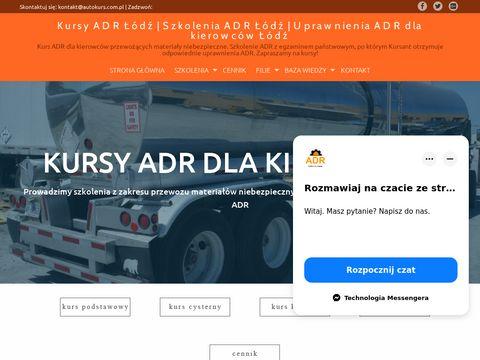 Autokurs.com.pl szkolenia adr Łódź
