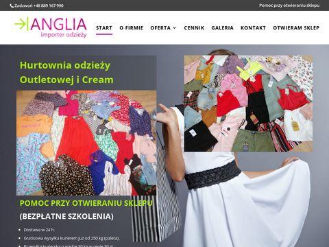 Anglia-importer.pl odzieży używanej