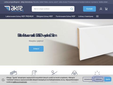 Akre.pl najnowsze listwy przypodłogowe