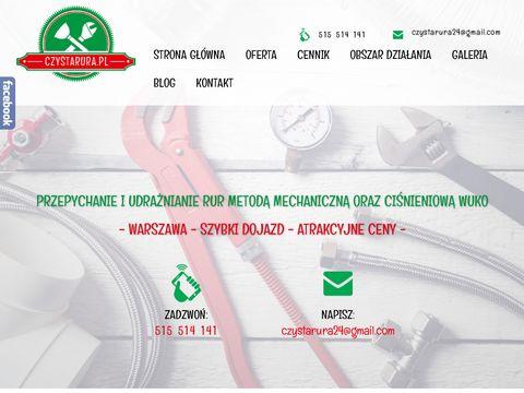 Czystarura.pl pogotowie kanalizacyjne Warszawa