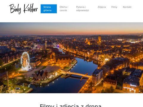 Bialykoliber.pl filmowanie z drona Gdańsk