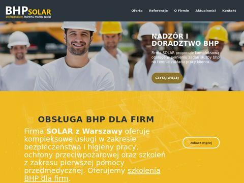 Solar szkolenia BHP Warszawa