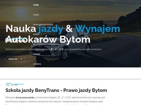 Benytrans.com.pl - szkoła jazdy Bytom