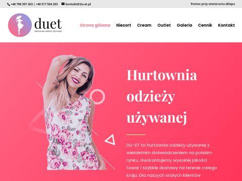 Du-et.pl hurtownia odzieży używanej Olsztyn