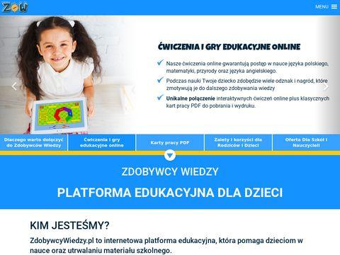 Zdobywcywiedzy.pl platforma edukacyjna