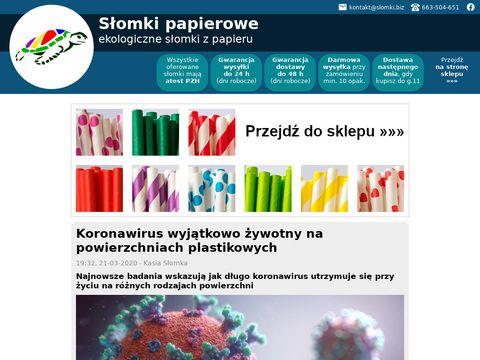 Webinspire biodegradowalne słomki z papieru