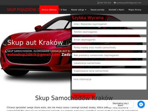 Skupsamochodowkrakow24.pl kasacja pojazdów