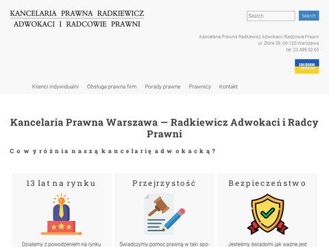 Radkiewicz.net.pl prawnik rodzinny