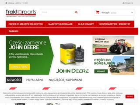 Traktorparts.pl części Case John Deere New Holland