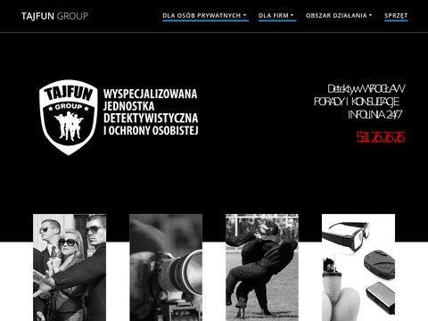 Tajfungroup.pl prywatny detektyw Wrocław