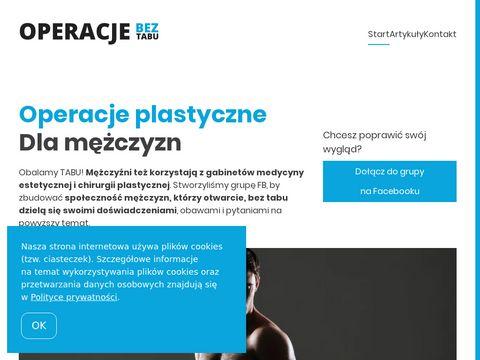 Operacjebeztabu.pl zabiegi plastyczne dla mężczyzn