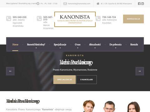 Kanonista.com prawo wyznaniowe