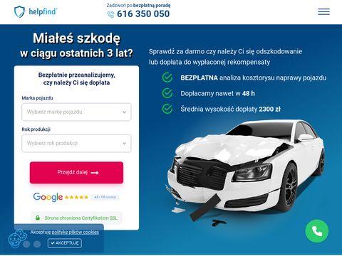 Helpfind.pl dochodzenie odszkodowań