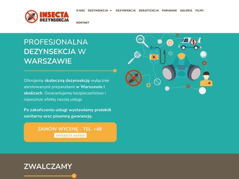 Insecta - dezynsekcja Warszawa