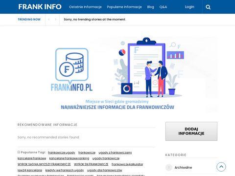 Frankinfo.pl kredyty we frankach