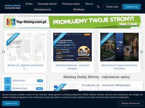 Dodaj-strone.com.pl reklama dla twojej strony