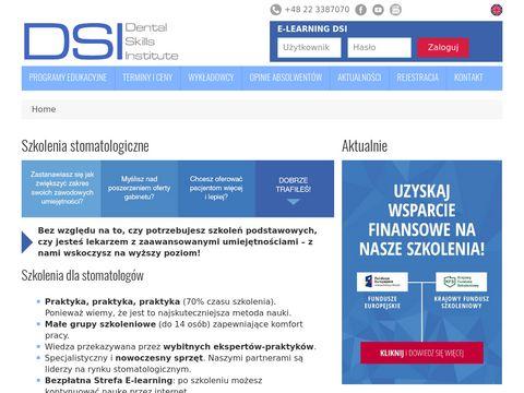 Dsi-edu.com szkolenia stomatologiczne