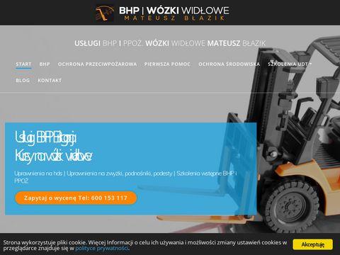 Bhpiww.pl szkolenia kursy na wózki widłowe