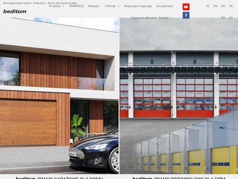 Beditom.pl bramy garażowe przemysłowe