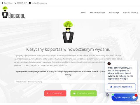 Brocool.eu agencja reklamowa ulotki i plakatowanie