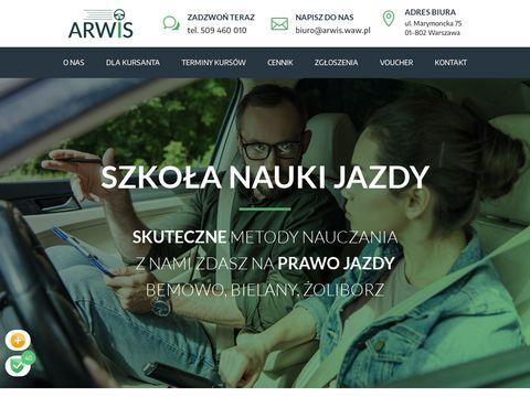 Arwis nauka jazdy Warszawa