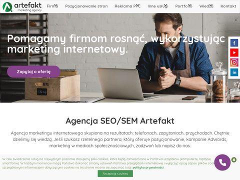 Artefakt.pl agencja SEO