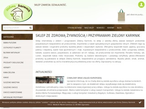 Zielonykarmnik.pl sklep ze zdrową żywnością