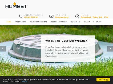 Rombet.pl szambo betonowe cena