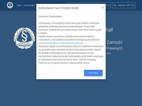 Prawnik-zamosc.pl Michał Wierzchowski