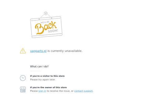 Vagparts.pl sprzedaż nowych części VAG