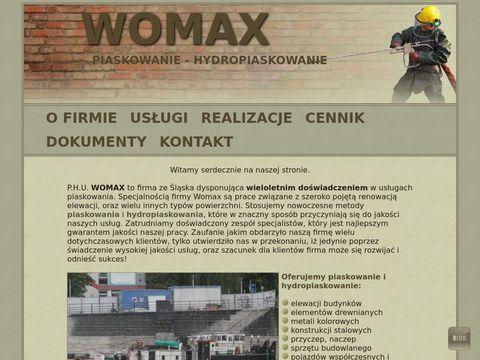 Womax - piaskowanie powierzchni