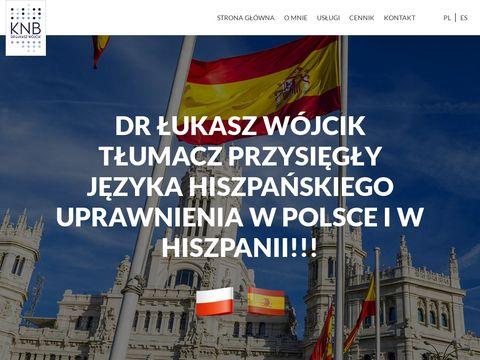 Wojcik-tlumacz.pl hiszpańskiego Warszawa