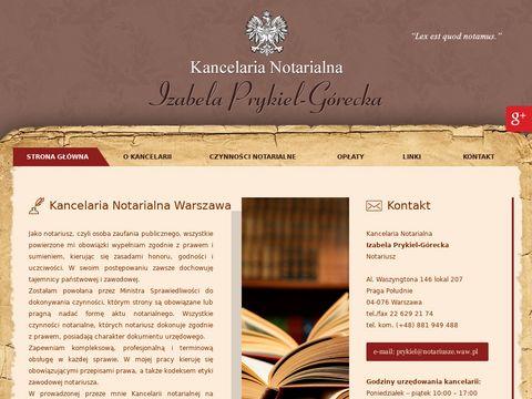 Izabela Prykiel-Górecka notariusz