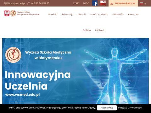 Wsmed.edu.pl uczelnia medyczna w Białymstoku