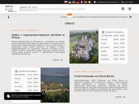 Zamek sp. z o. o. noclegi Ogrodzieniec