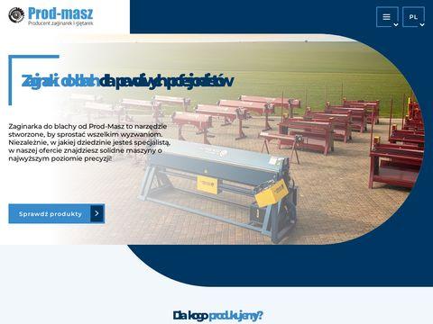 Zaginarki.net producent maszyn blacharskich