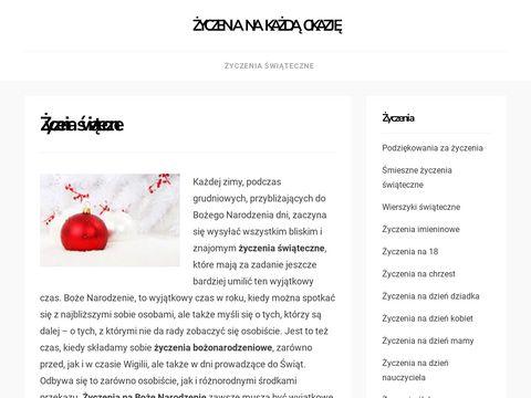 Zyczenia-swiateczne.com.pl gotowe wzory życzeń