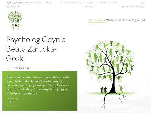 Pomocwlabiryncie.pl psycholog Beata Załucka-Gosk