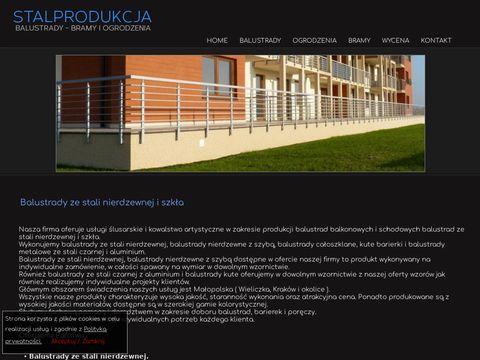 Polkut inox balustrady nierdzewne Kraków