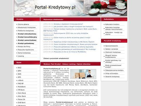 Jaki kredyt wybrać - portal-kredytowy.pl
