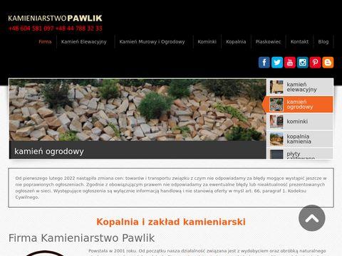 Piaskowce.com piaskowiec kamień elewacyjny kominki