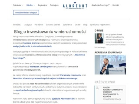 Pawelalbrecht.com inwestycje nieruchomości