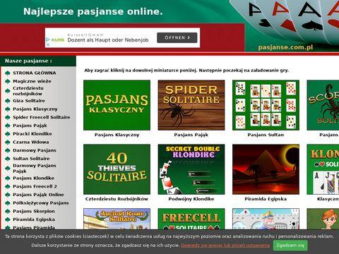 Pasjanse.com.pl gry pasjans w wielu odmianach